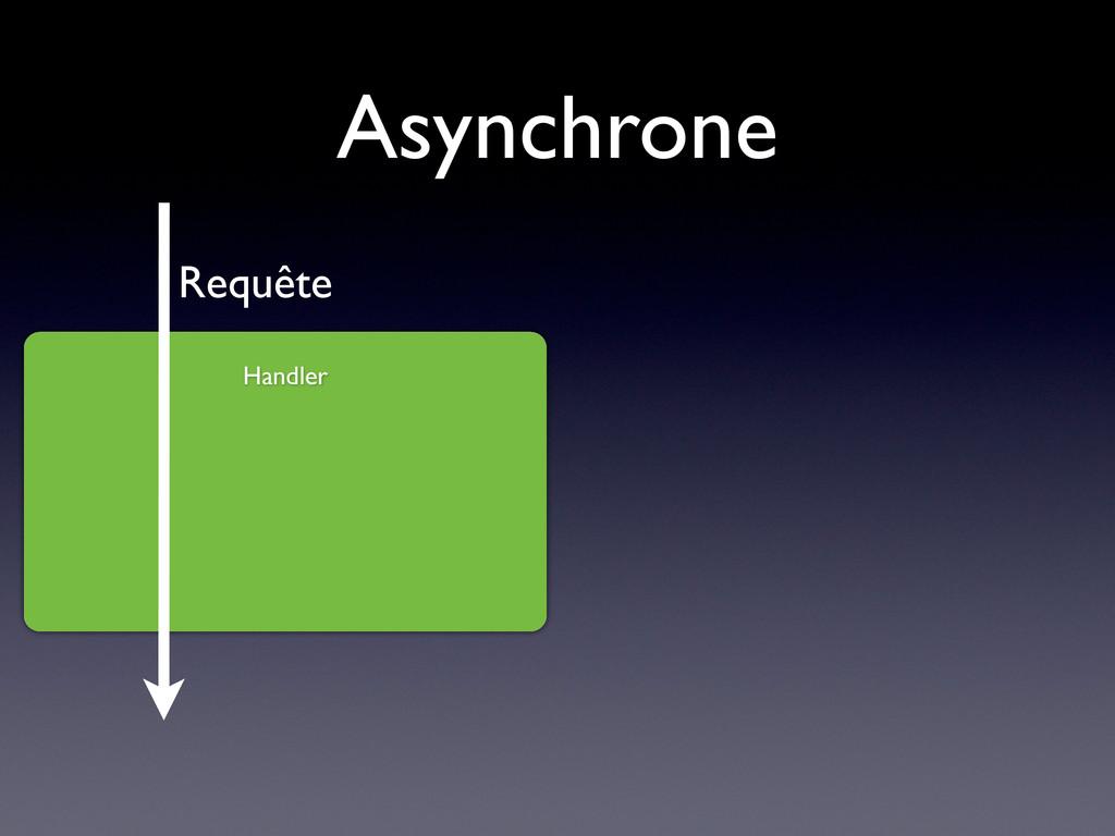 Asynchrone Handler Requête