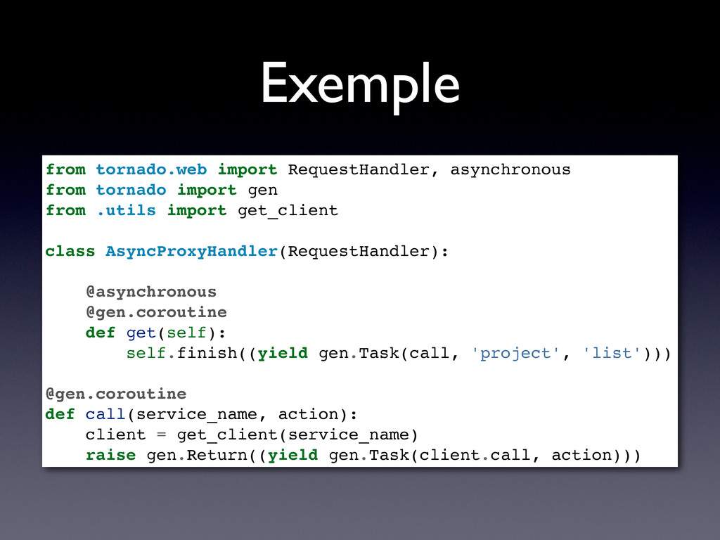 Exemple from tornado.web import RequestHandler,...