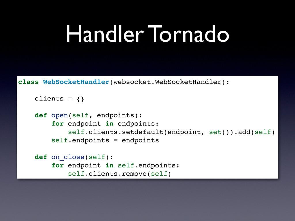 Handler Tornado class WebSocketHandler(websocke...