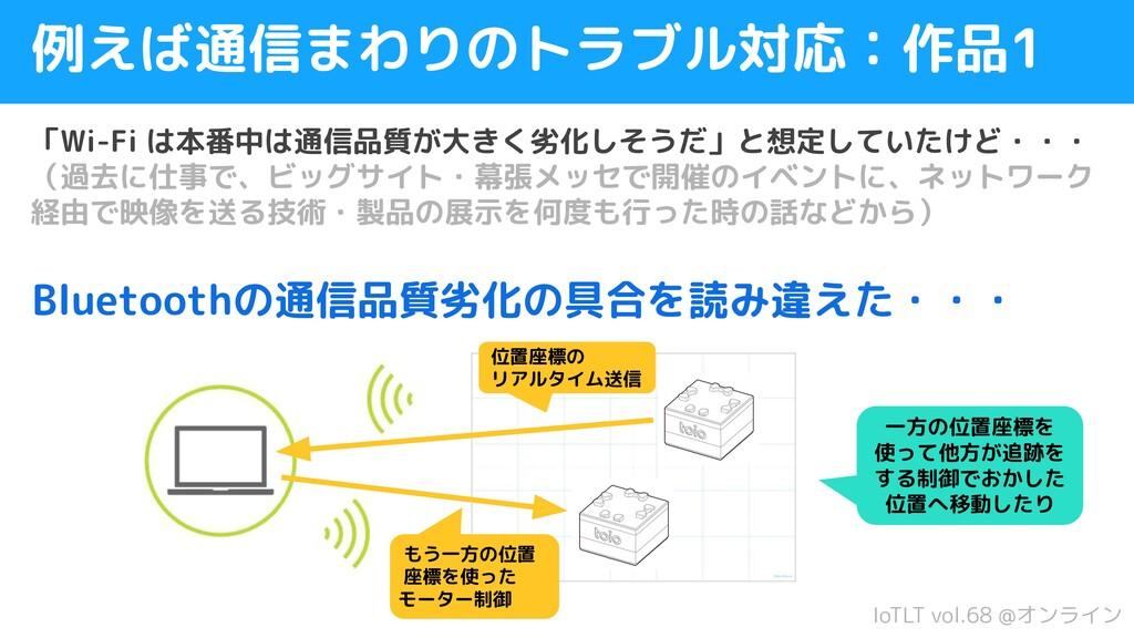 IoTLT vol.68 @オンライン 例えば通信まわりのトラブル対応:作品1 「Wi-Fi ...
