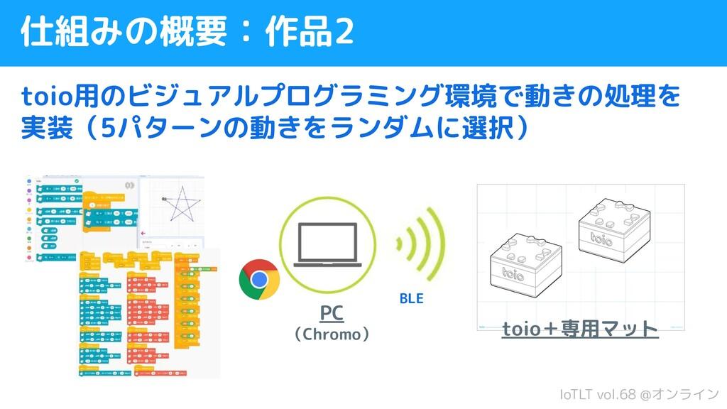 IoTLT vol.68 @オンライン 仕組みの概要:作品2 toio用のビジュアルプログラミ...