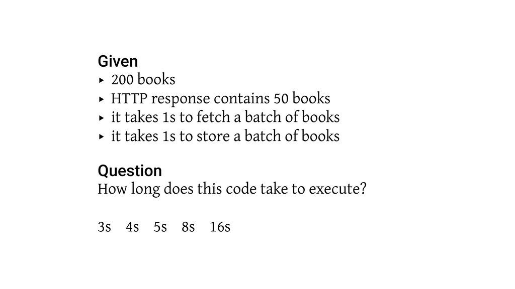 Given ‣ 200 books ‣ HTTP response contains 50 b...
