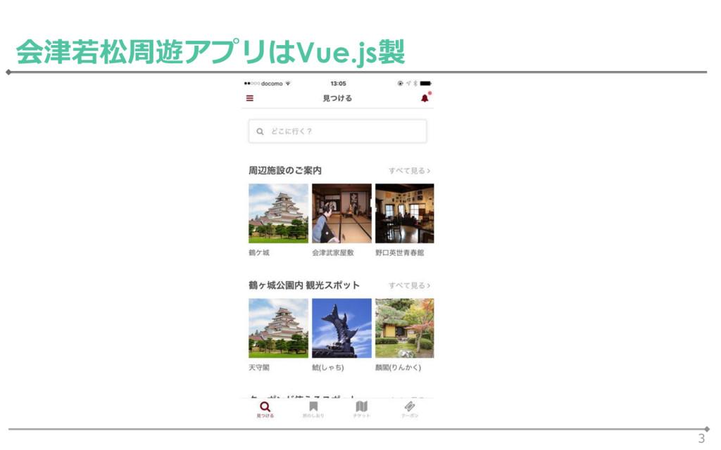 3 会津若松周遊アプリはVue.js製