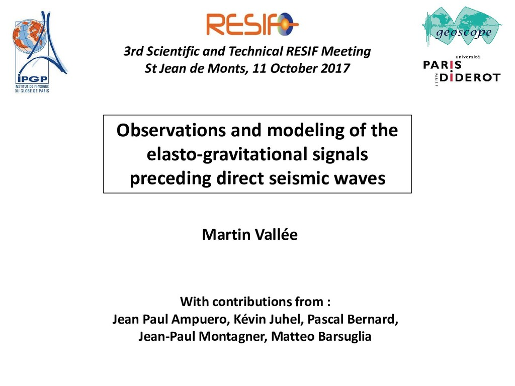 Observations and modeling of the elasto-gravita...