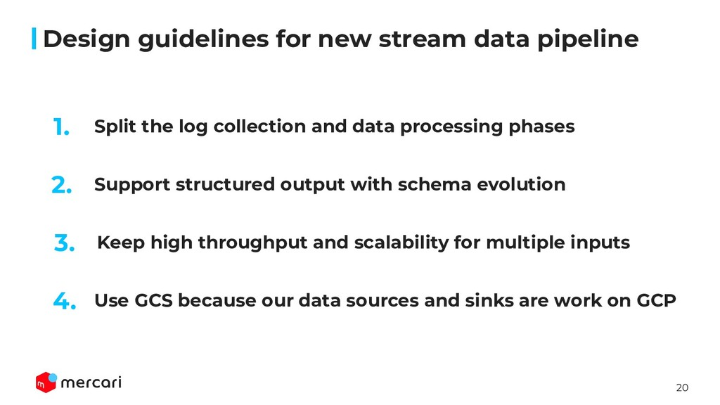 20 Split the log collection and data processing...