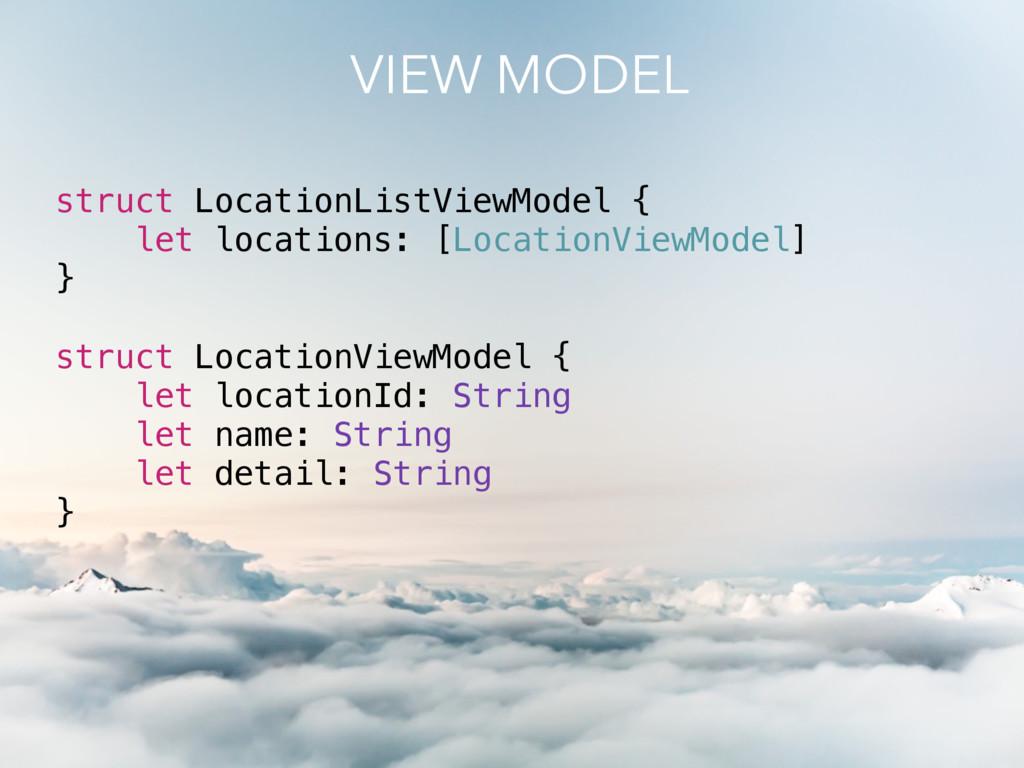 struct LocationListViewModel { let locations: [...