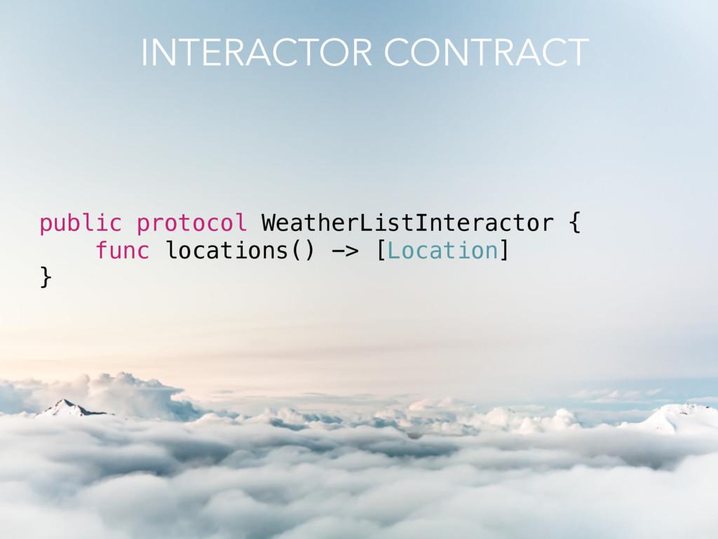 public protocol WeatherListInteractor { func lo...