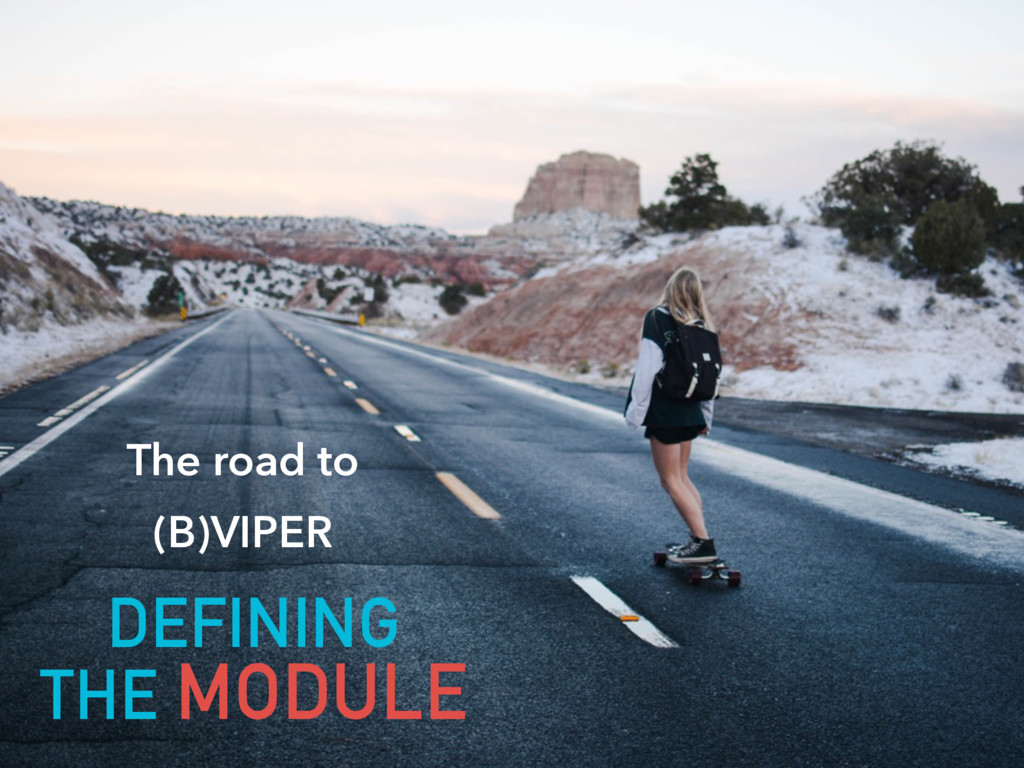 The road to  (B)VIPER DEFINING  THE MODULE