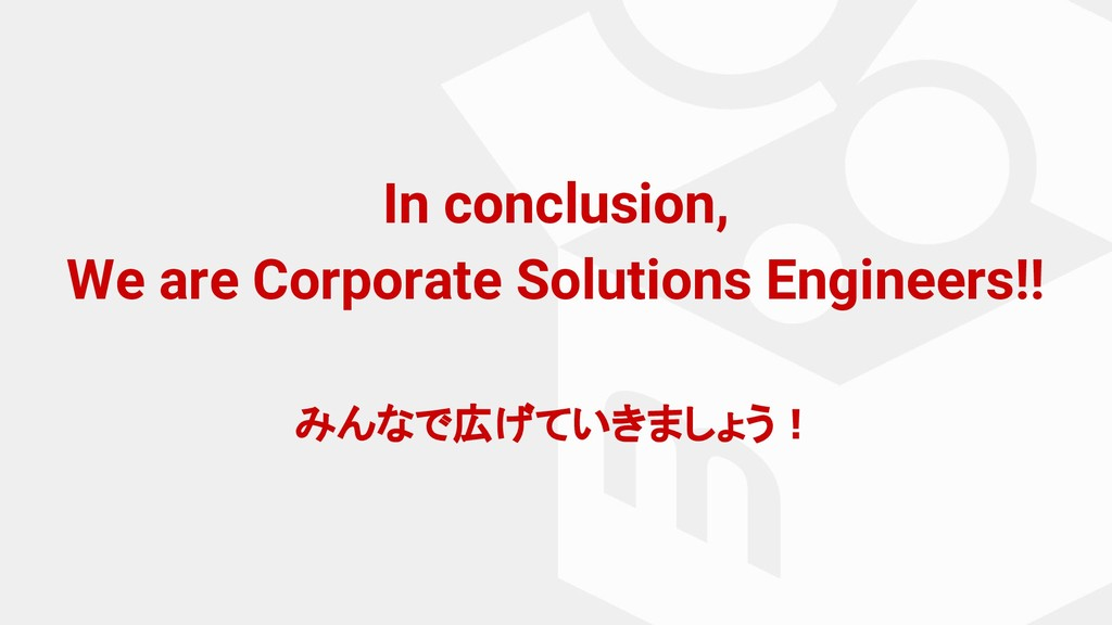 In conclusion, We are Corporate Solutions Engin...