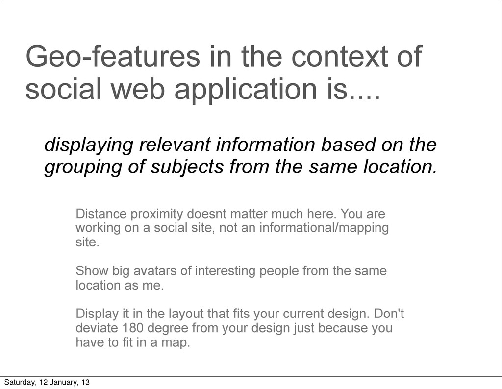 Geo-features in the context of social web appli...