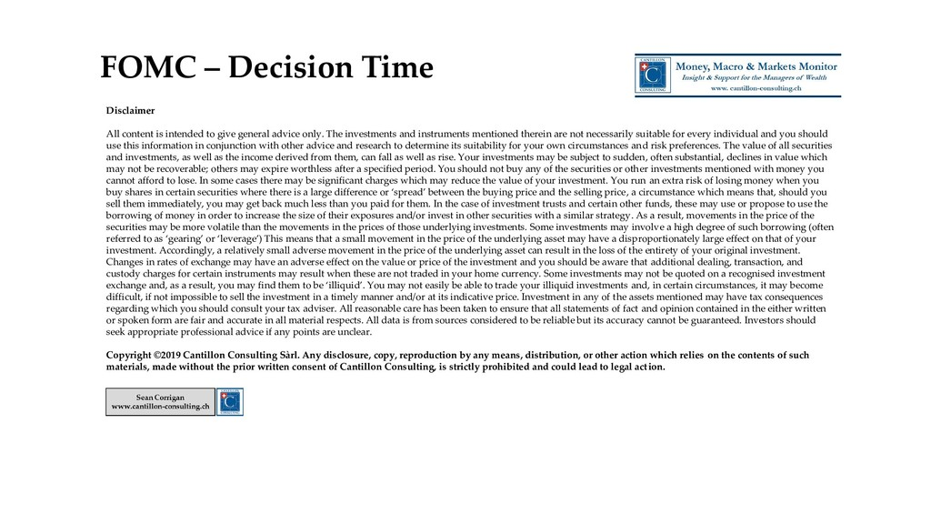 FOMC – Decision Time Disclaimer All content is ...