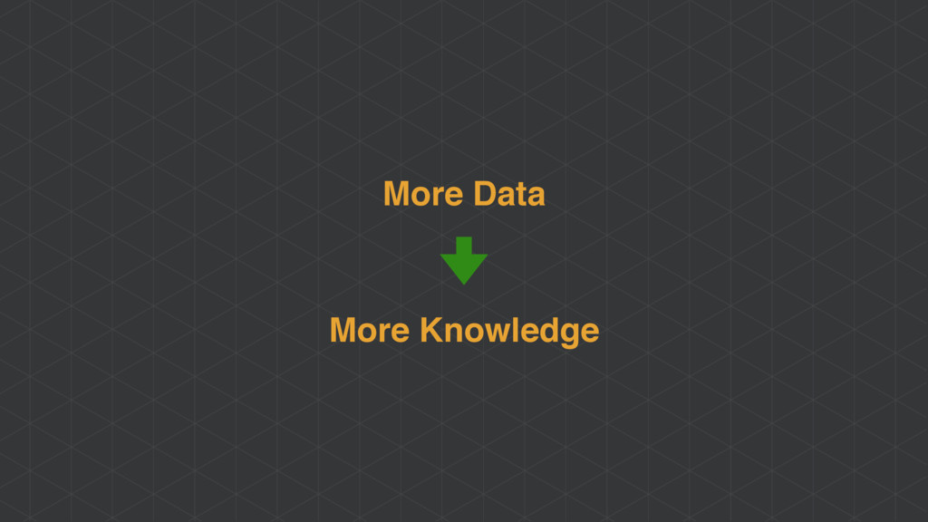 More Data More Knowledge