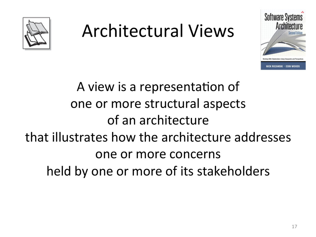 Architectural Views    A view is...