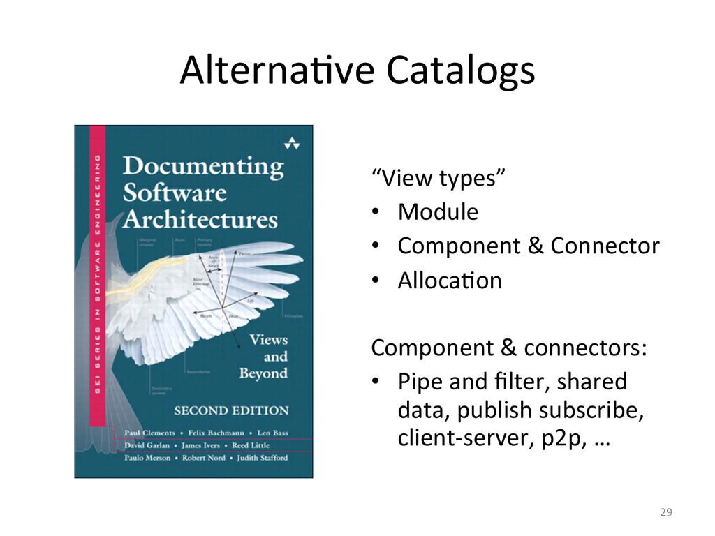 "Alterna3ve Catalogs    ""View types""..."