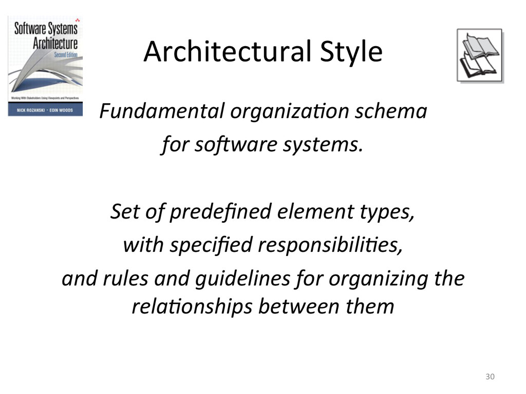 Architectural Style  Fundamental organ...