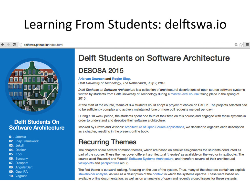 Learning From Students: del#swa.io ...