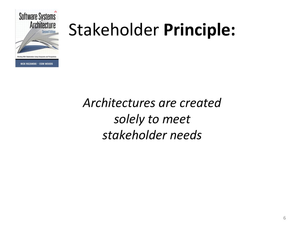 Stakeholder Principle:      Archite...