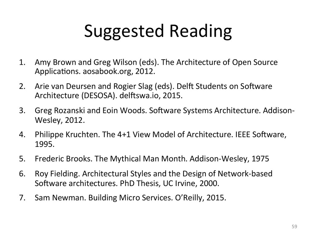 Suggested Reading  1. Amy Brown an...