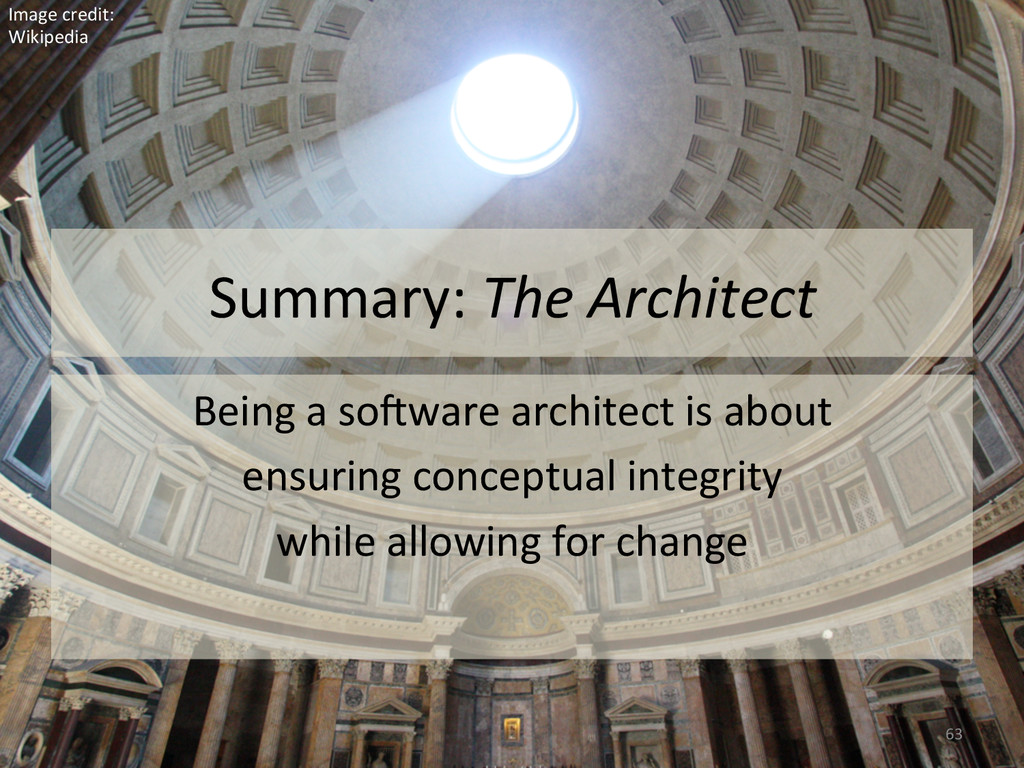 Summary: The Architect  Being a ...