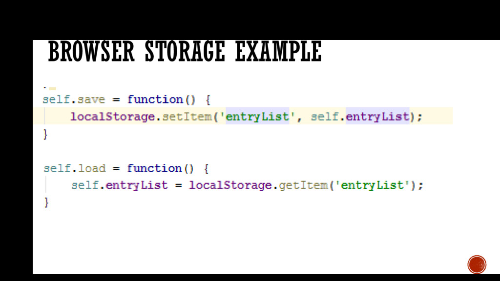 BROWSER STORAGE EXAMPLE