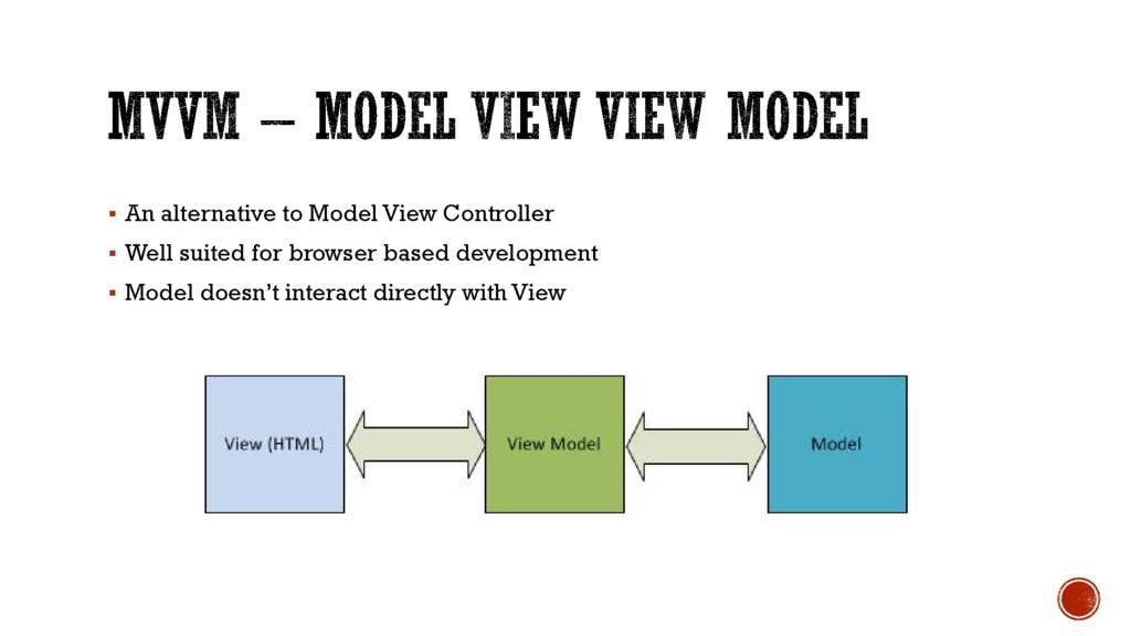  An alternative to Model View Controller  Wel...