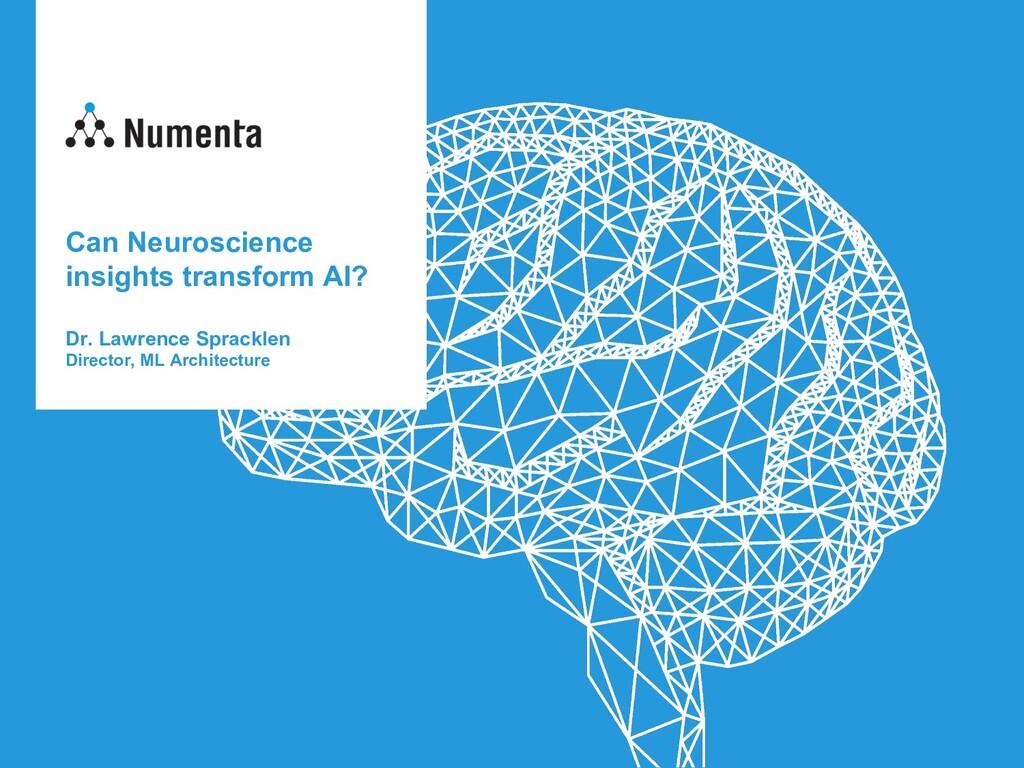 Can Neuroscience insights transform AI? Dr. Law...