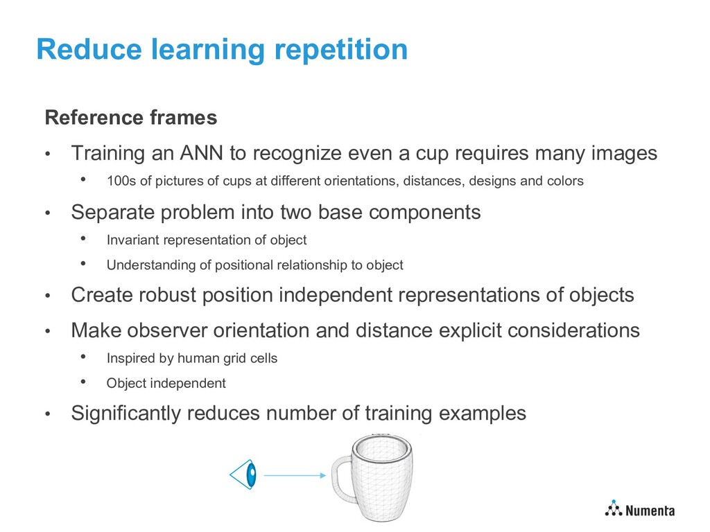 Reduce learning repetition Reference frames • T...