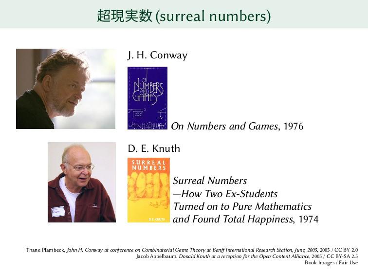 超現実数 (surreal numbers) J. H. Conway On Numbers ...