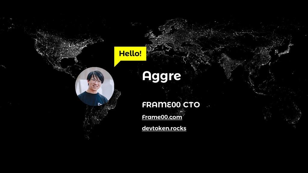 Hello! Aggre FRAME00 CTO devtoken.rocks Frame00...
