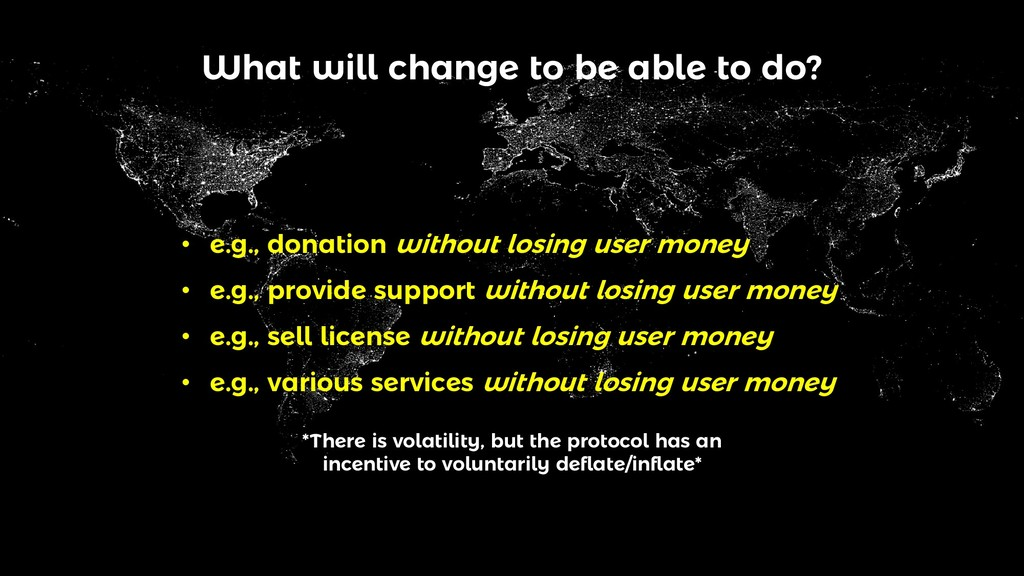 What will change to be able to do? • e.g., dona...
