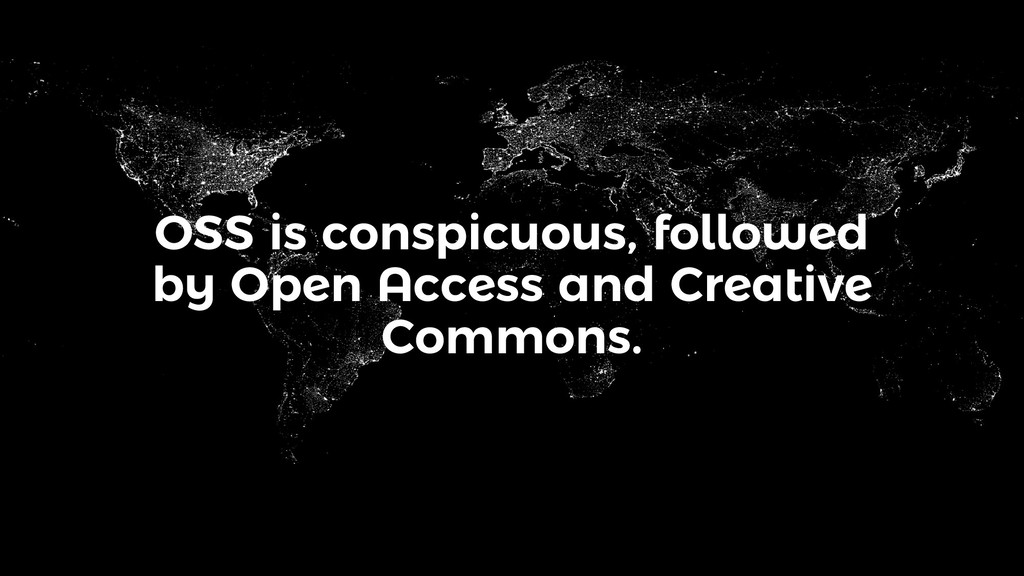OSS is conspicuous, followed by Open Access and...