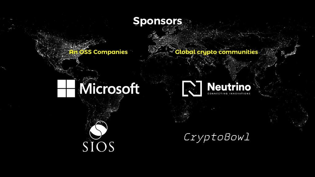 Sponsors An OSS Companies Global crypto communi...
