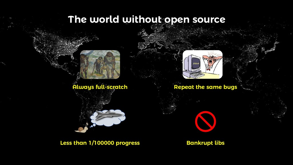 The world without open source Always full-scrat...
