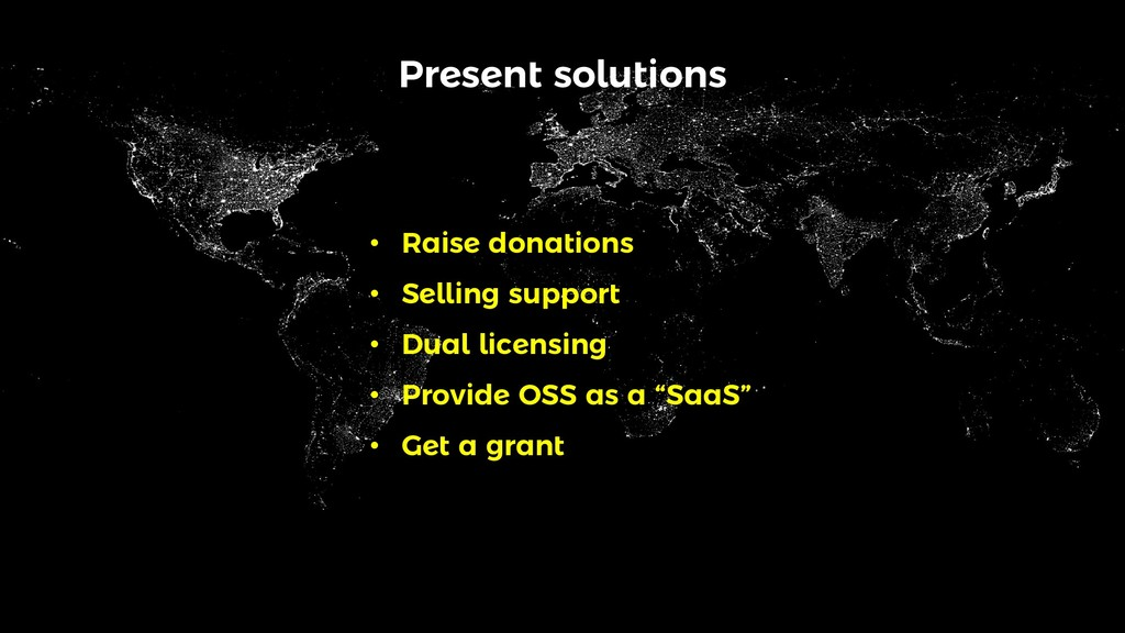Present solutions • Raise donations • Selling s...