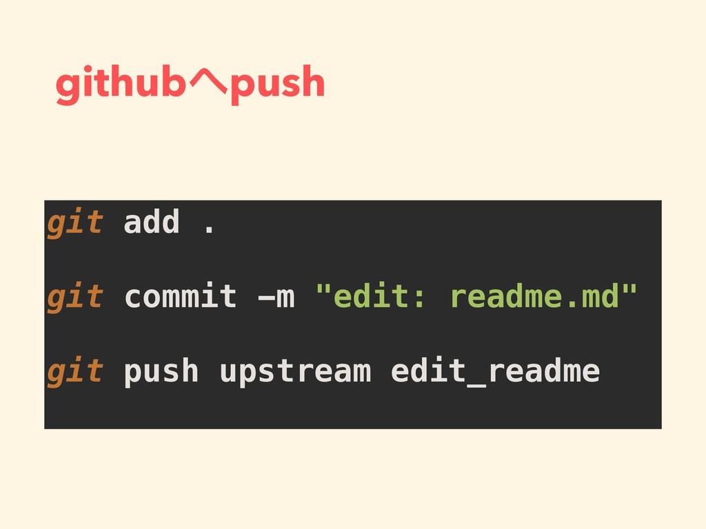 "githubpush git add . git commit -m ""edit: read..."