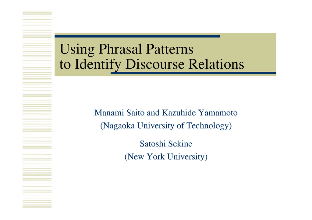 Using Phrasal Patterns to Identify Discourse Re...
