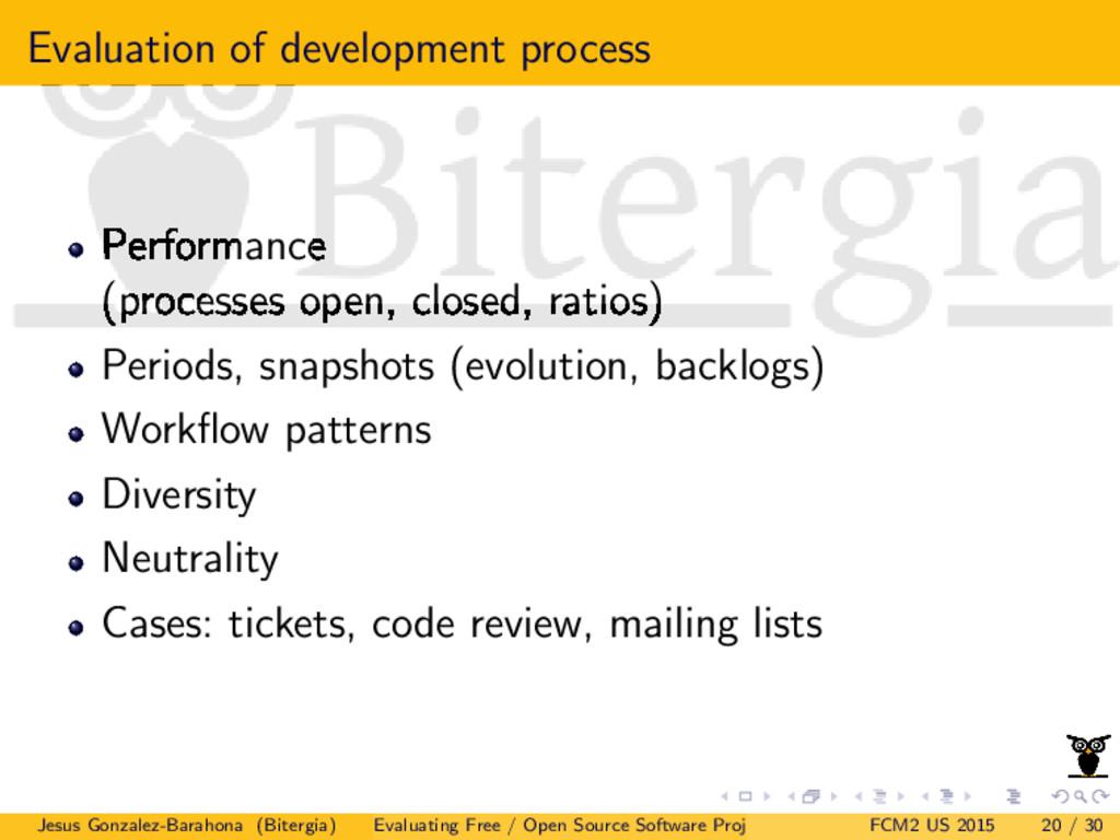 Evaluation of development process Performance (...