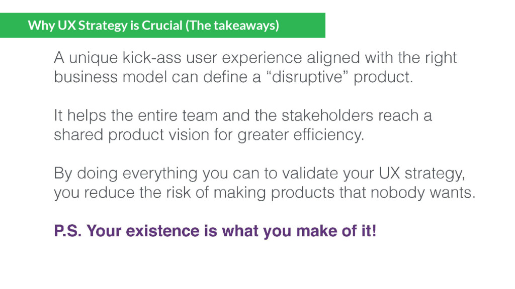 Why UX Strategy is Crucial (The takeaways)