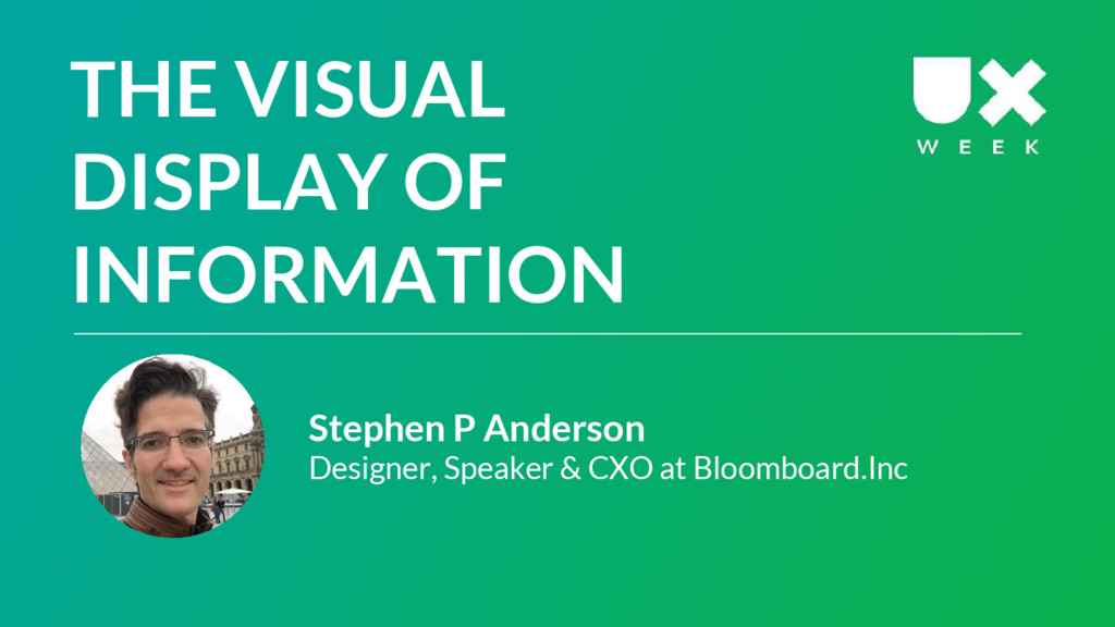 THE VISUAL DISPLAY OF INFORMATION Stephen P And...