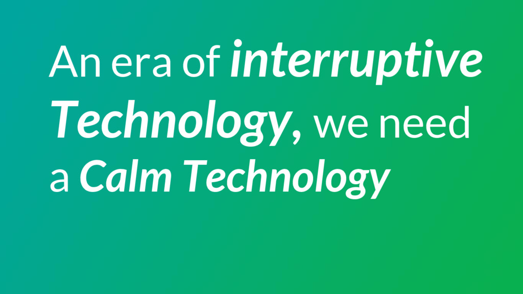 An era of interruptive Technology, we need a Ca...