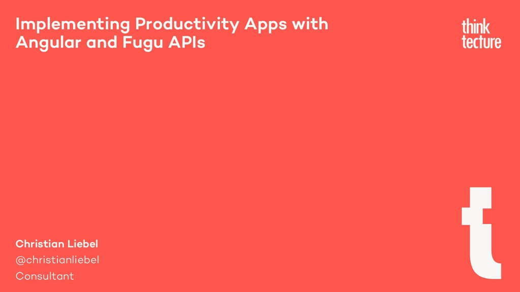 Implementing Productivity Apps with Angular and...
