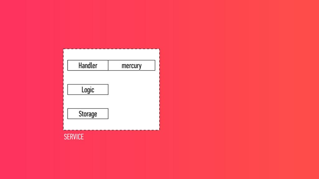 mercury Logic Handler Storage SERVICE