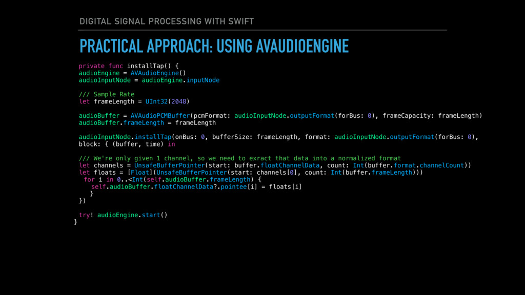 DIGITAL SIGNAL PROCESSING WITH SWIFT PRACTICAL ...