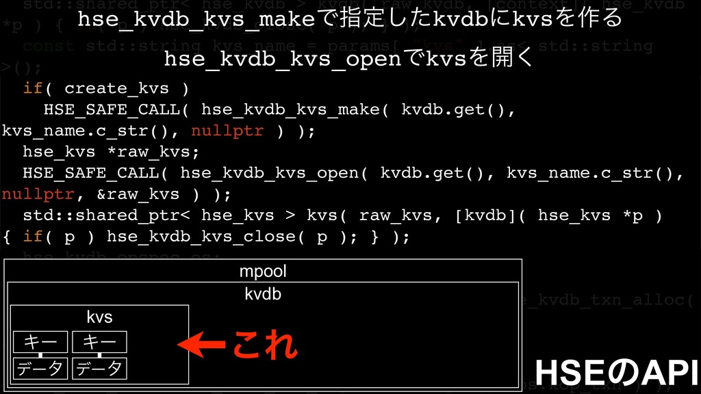 std::shared_ptr< hse_kvdb > kvdb( raw_kvdb, [co...