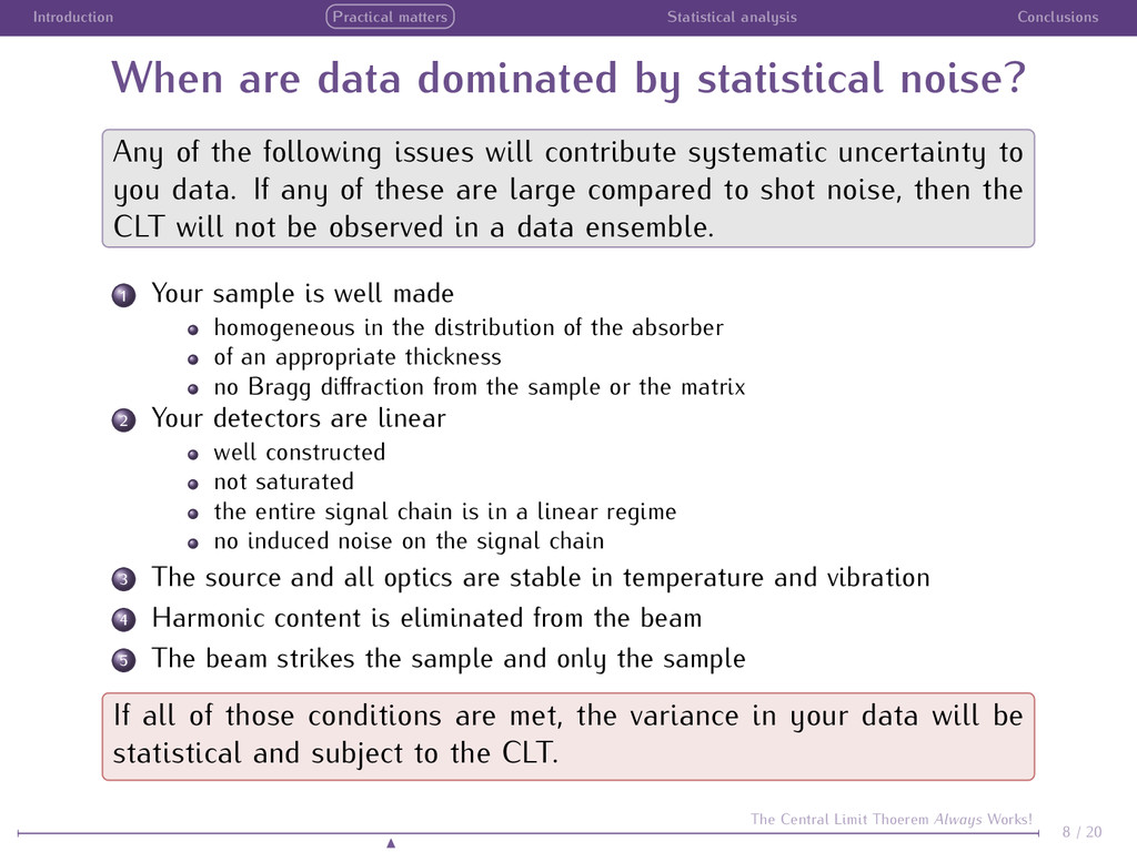 Introduction Practical matters Statistical anal...