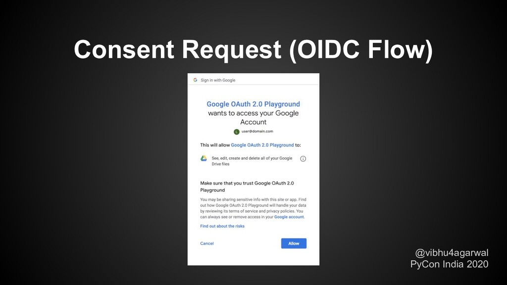 @vibhu4agarwal PyCon India 2020 Consent Request...