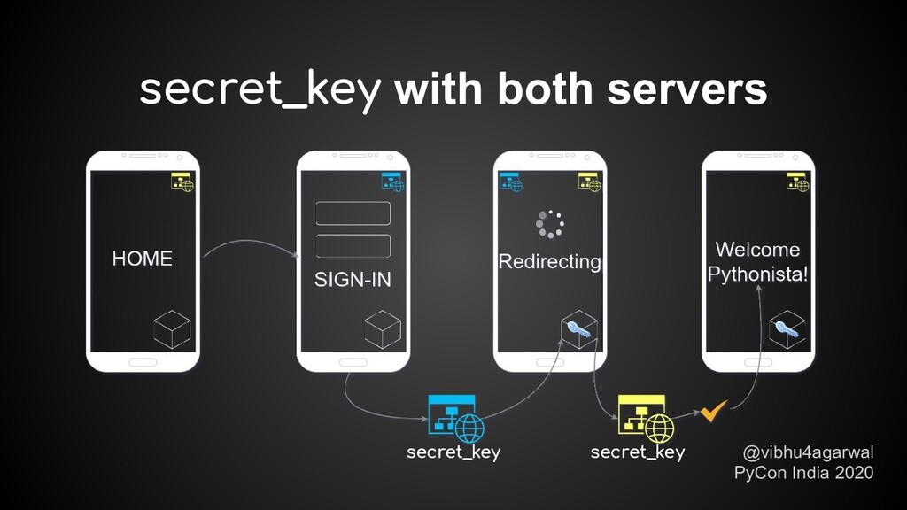 secret_key with both servers @vibhu4agarwal PyC...