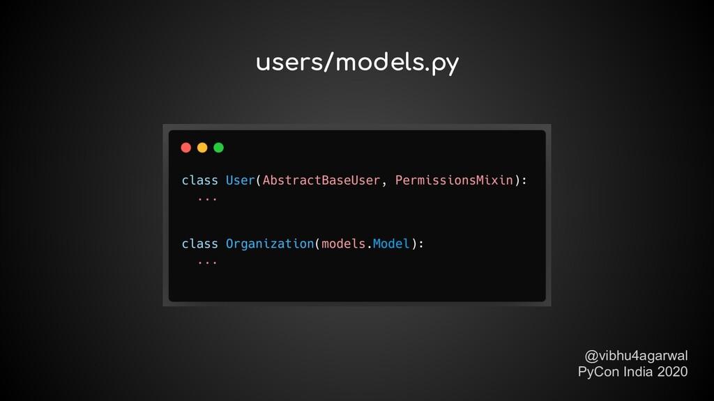 @vibhu4agarwal PyCon India 2020 users/models.py