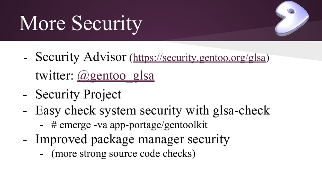 More Security - Security Advisor (https://secur...