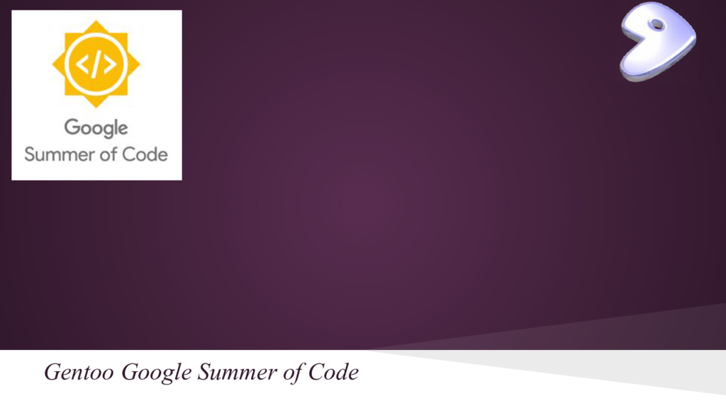 Gentoo Google Summer of Code